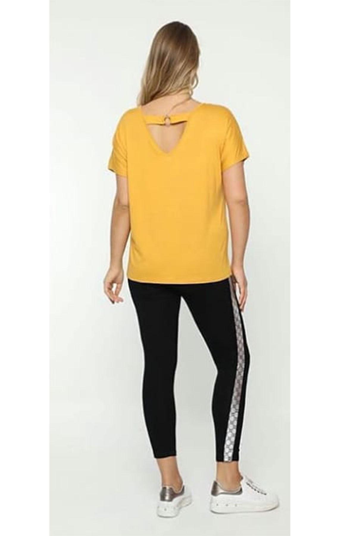 zeynep Kadın Sarı Sırt Detaylı Bluz 2