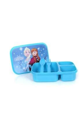 Frozen Disney Elsa Anna Üç Bölmeli Beslenme Seti