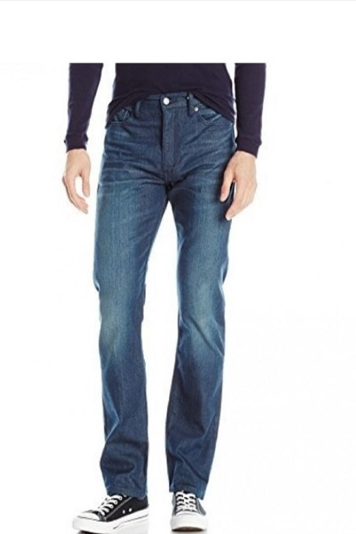 Levi's Erkek Mavi Slim Straight Leg Jeans Pantolon 08513-0647 513 1