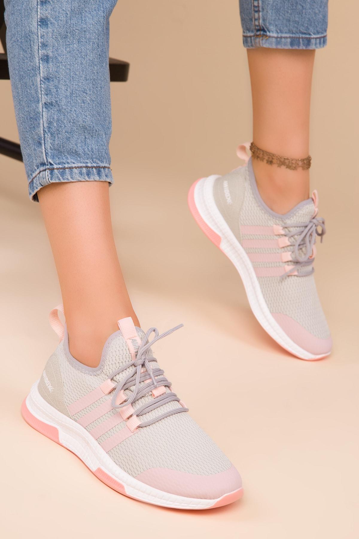 SOHO Buz-Pudra Kadın Sneaker 15195 2