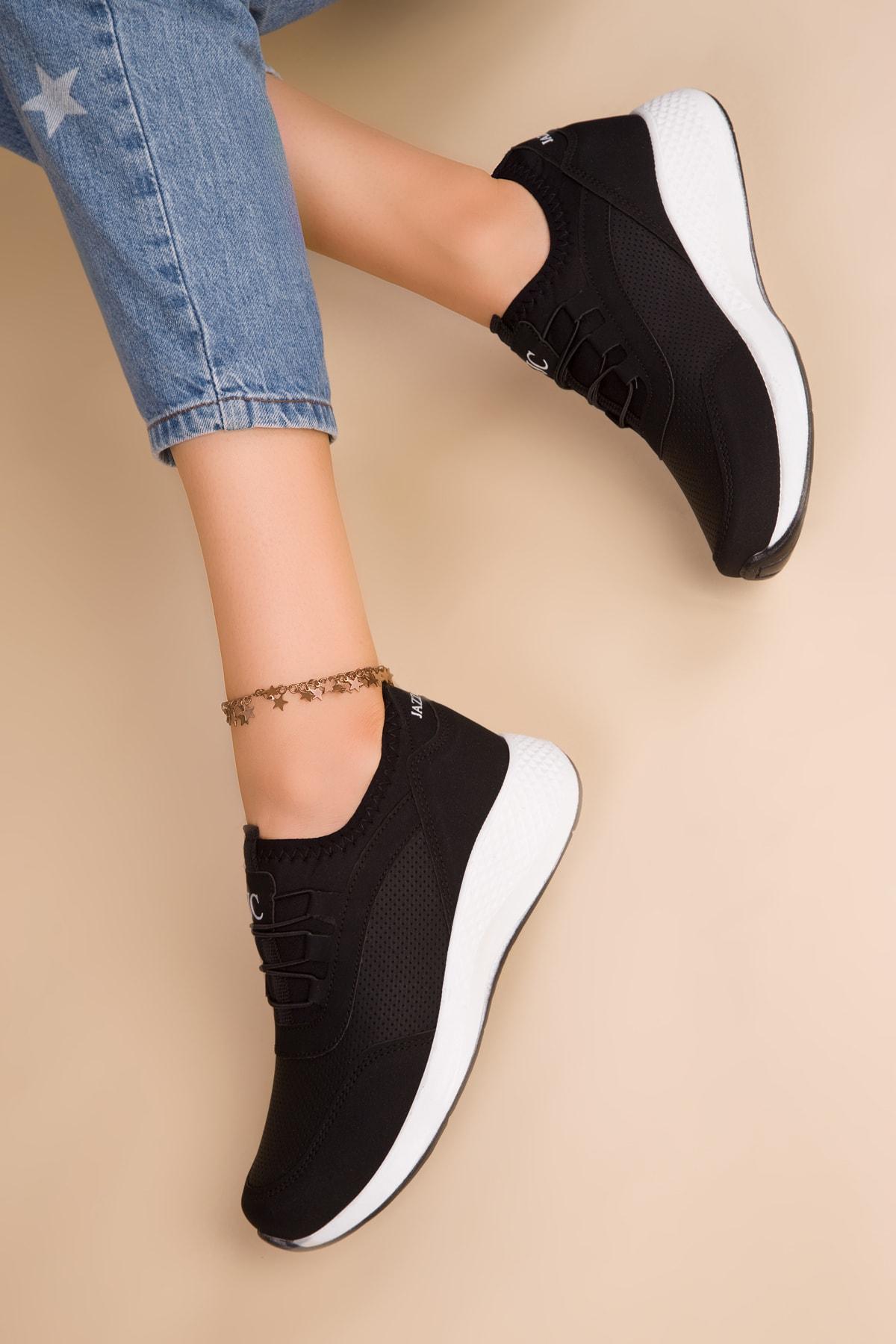 SOHO Siyah Kadın Sneaker 15226 1