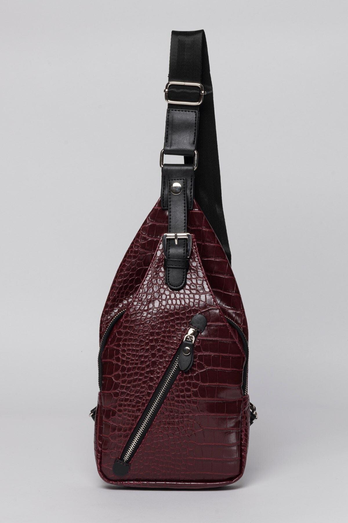 Jacquline Kadın Bordo Body Bag Bel Çantası 1