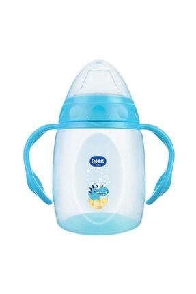 Wee Baby Kulplu Alıştırma Bardağı 250 Ml - Mavi