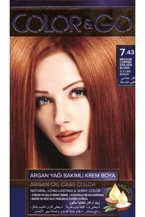 COLOR&GO Sultan Bakırı Saç Boyası 7.43