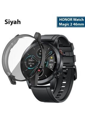 HONOR Watch Magic 2 46mm 360 Koruma Ultra Ince Silikon Kılıf - Siyah