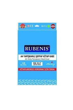 Rubenis Yapışkanlı Kitap Kabı Şeffaf 10 Adet