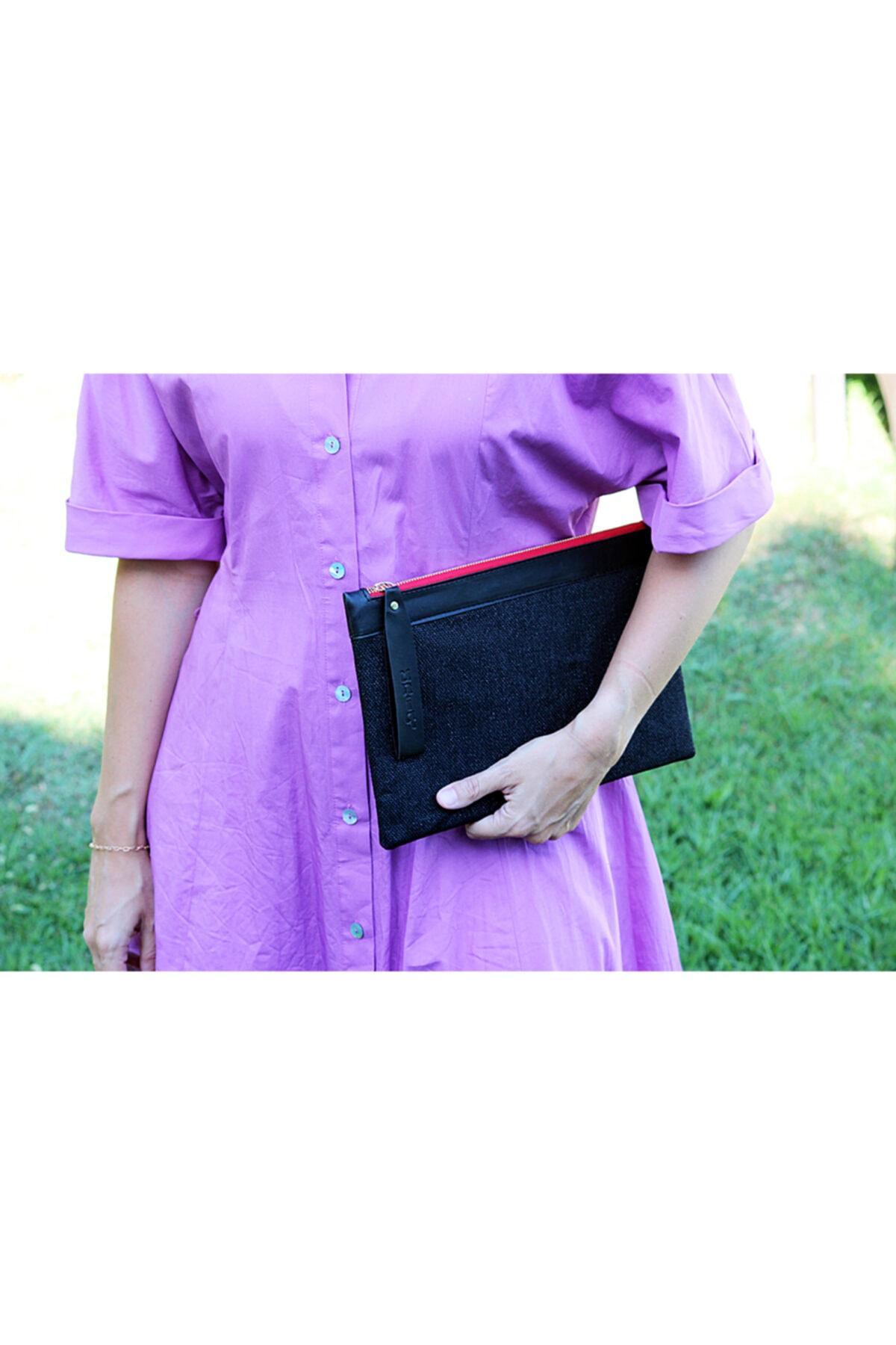 uniq Kadın Siyah Clutch Çanta 2