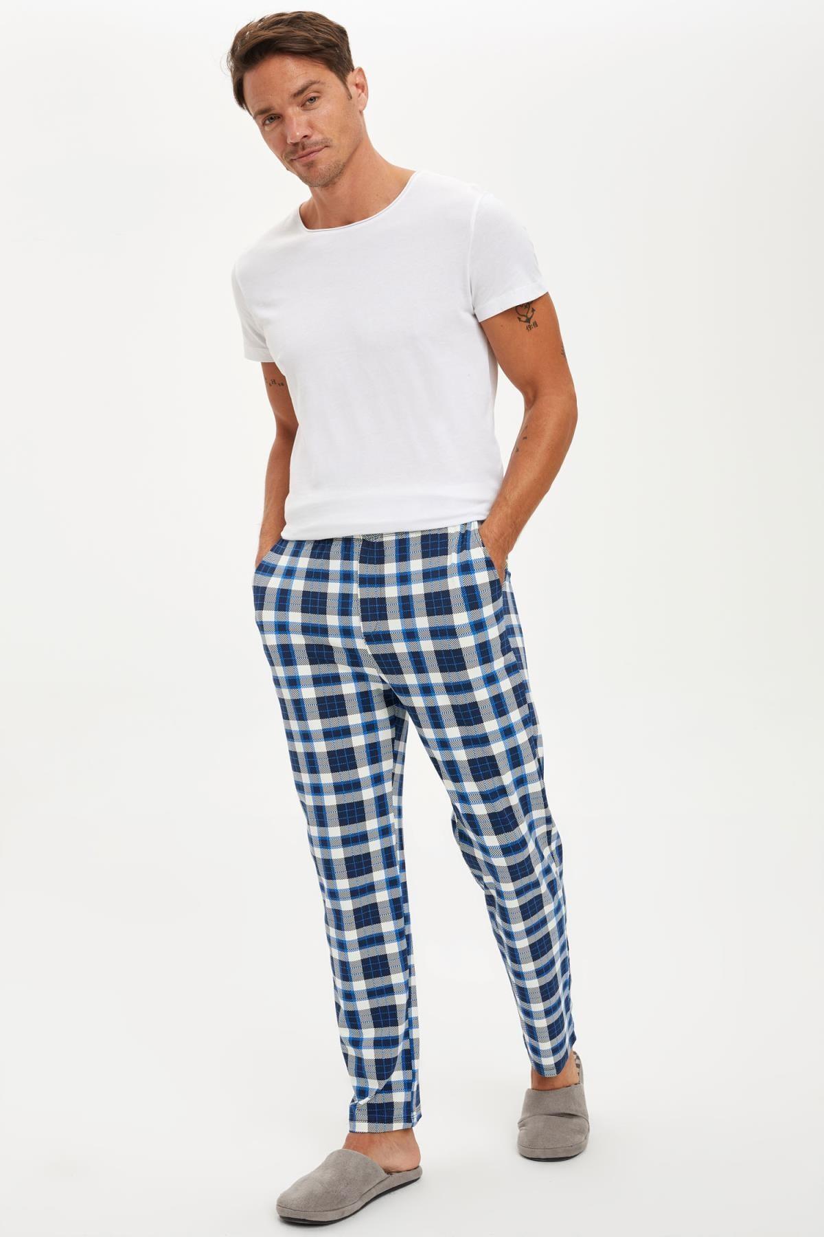 DeFacto Ekose Desenli Regular Fit Pijama Alt