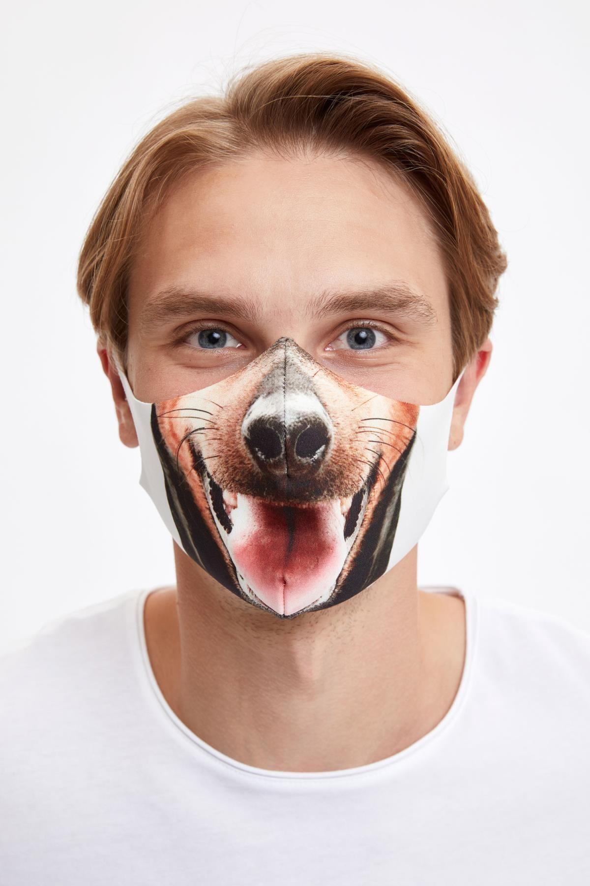 DeFacto Erkek Köpek Baskılı Yıkanabilir Maske
