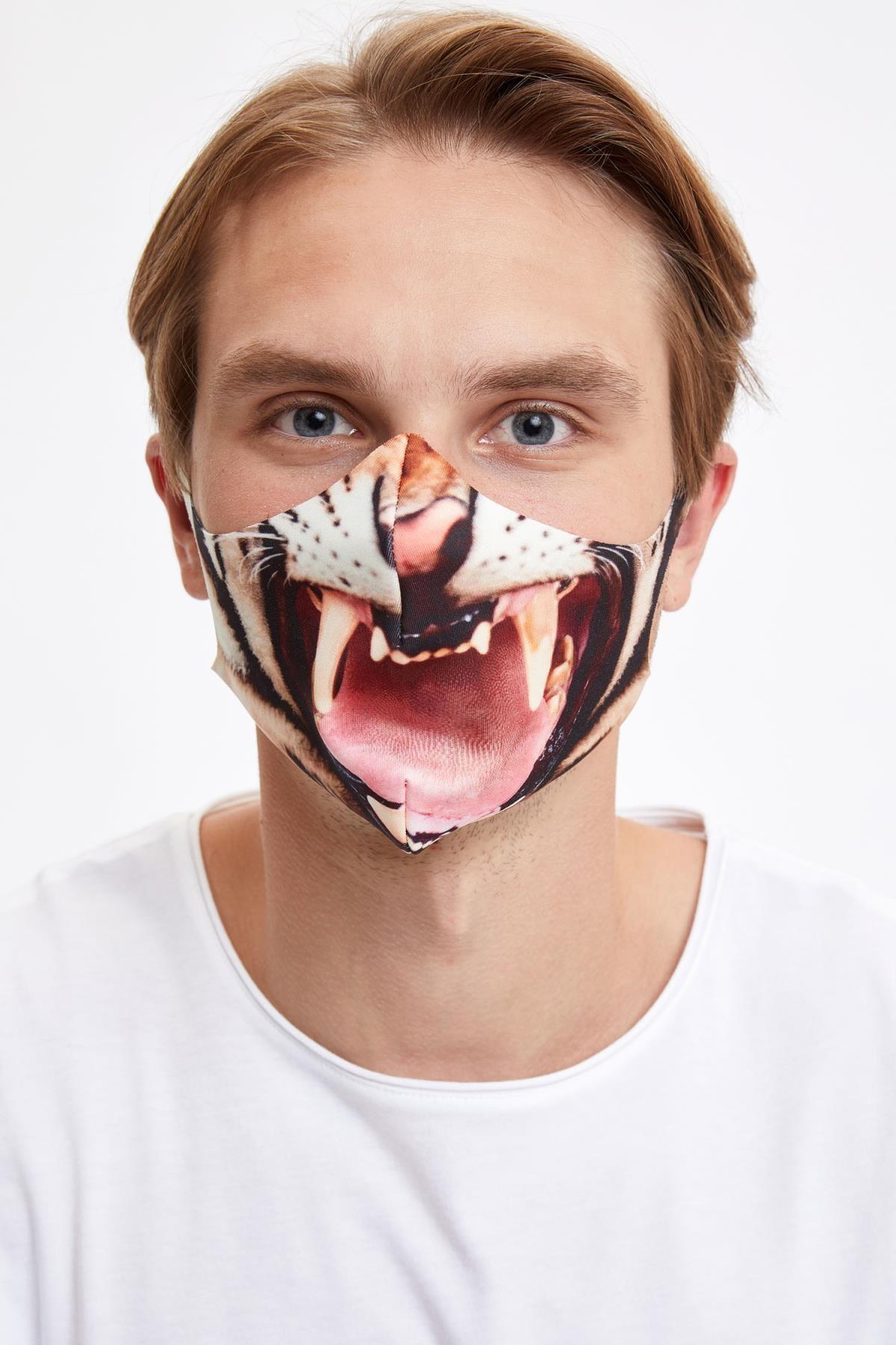 DeFacto Kaplan Baskılı Yıkanabilir Maske