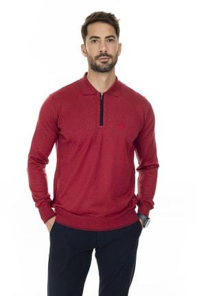 Buratti Erkek Kırmızı Fermuar Detaylı Polo Yaka Kazak 447117