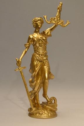 Eymense Adalet Dekoratif Obje Gold