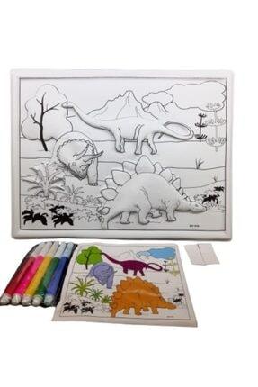 FİYPER 3d Boyama Seti Dinozor
