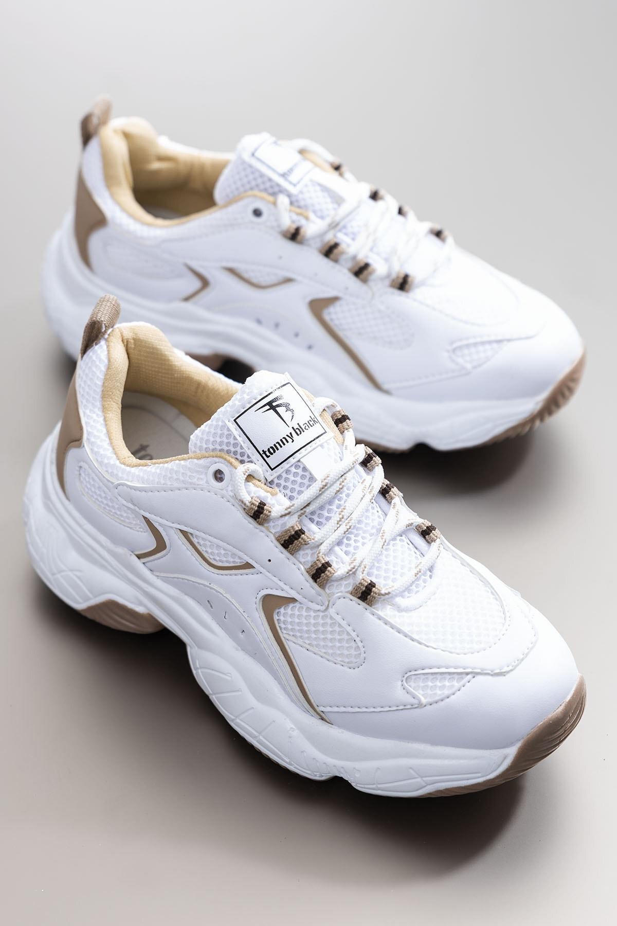 Tonny Black Kadın Spor Ayakkabı Beyaz Toprak Tb288
