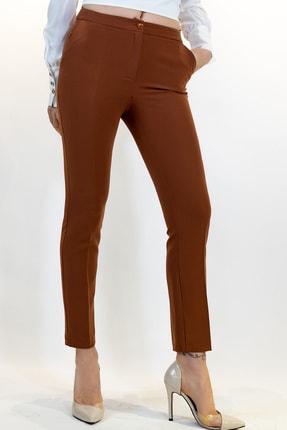 Lefon Kadın Tarçın Dar Kesim Cepli Pantolon
