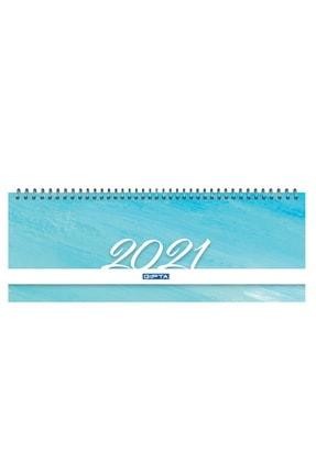 Gıpta Brite 2021 Haftalık Spiralli Masa Takvimi 12x33 Cm (504-btk) Mavi