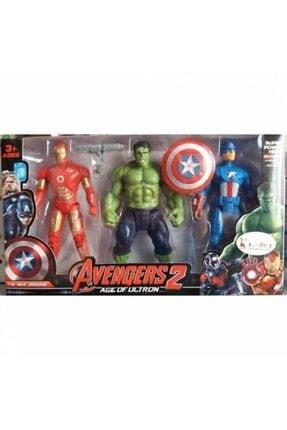 AVENGERS Demir Adam Hulk Kaptan Amerika 17 cm 3'lü Işıklı Figür