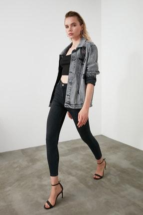 TRENDYOLMİLLA Siyah Yüksek Bel Skinny Jeans TWOAW21JE0243