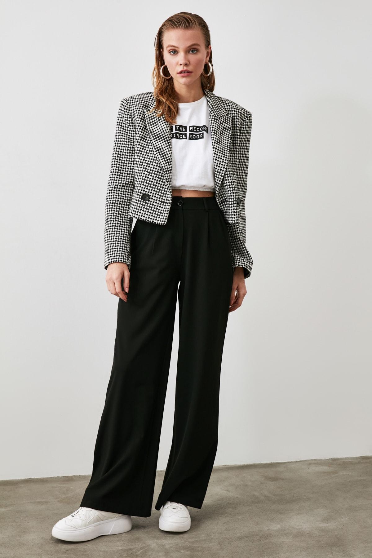TRENDYOLMİLLA Siyah Basic Pantolon TWOAW21PL0076 2
