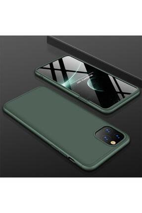 Apple Iphone 11 Pro Max Sert Silikon Kılıf Koyu Yeşil