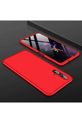 Huawei Nova 5t Sert Silikon Kılıf Kırmızı