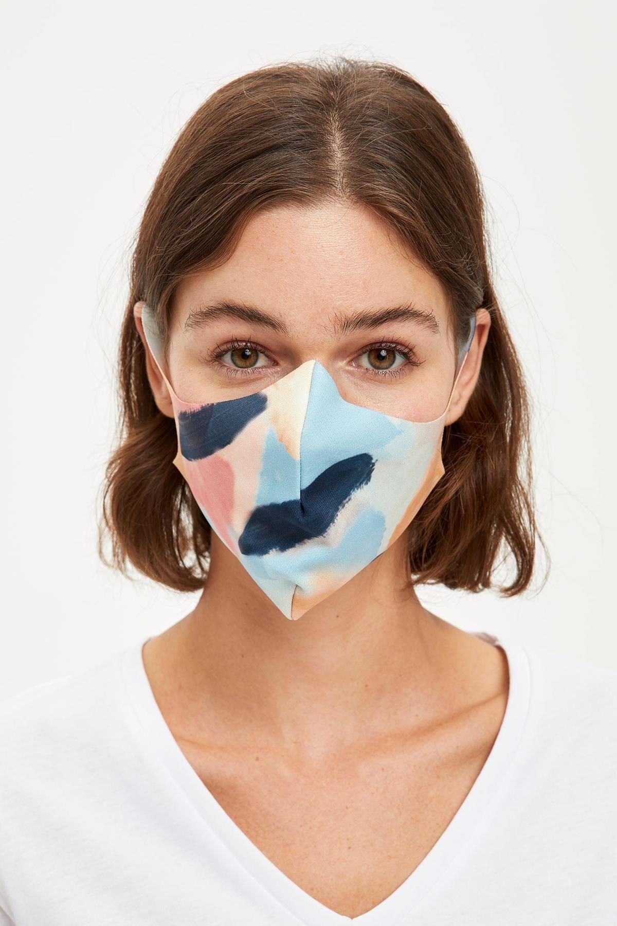 DeFacto Kadın Desenli Yıkanabilir Maske