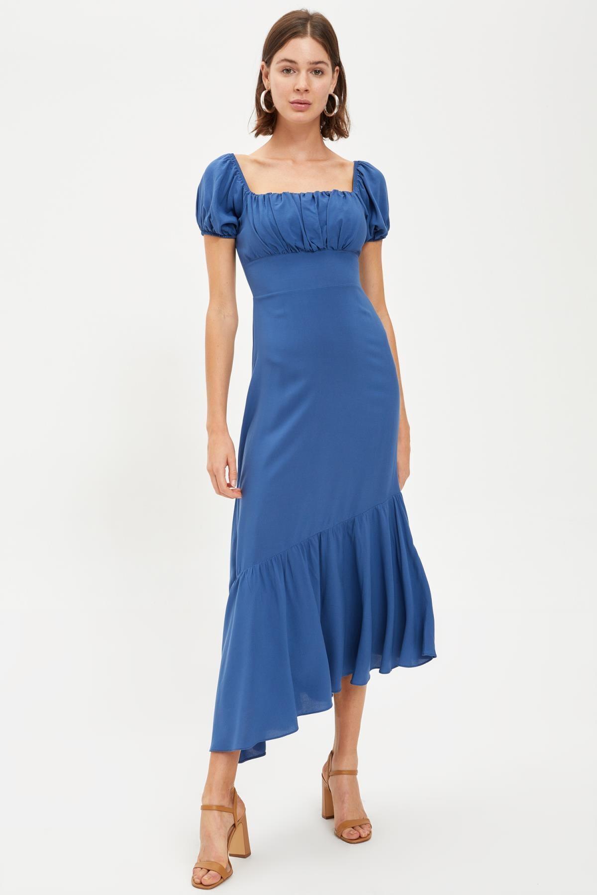 DeFacto Büzgülü Kısa Kollu Elbise