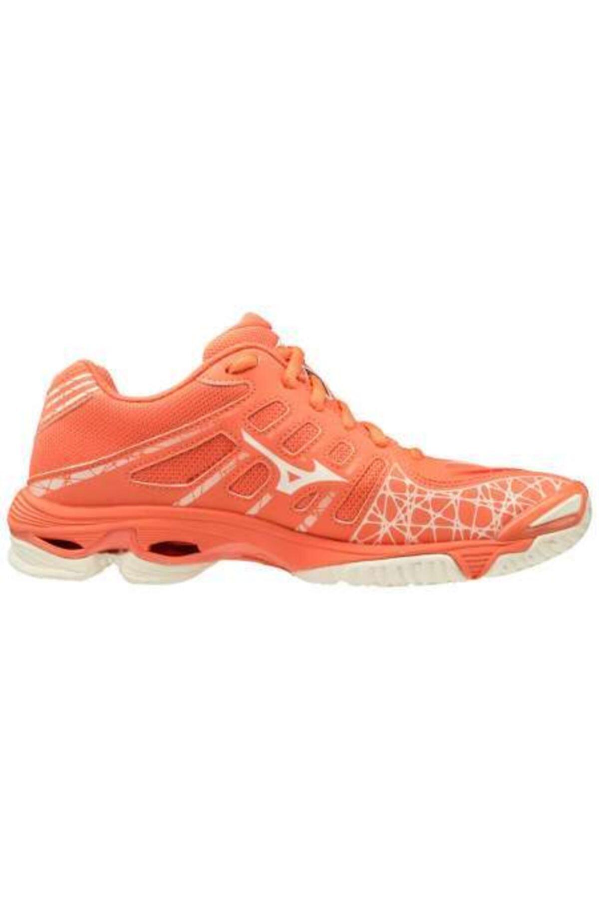 MIZUNO Wave Voltage Kadın Voleybol Ayakkabısı Mercan 2