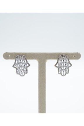 Swaroski Fatma Ana Eli Desenli Zirkon Taşlı 925 Ayar Gümüş Kadın Küpe