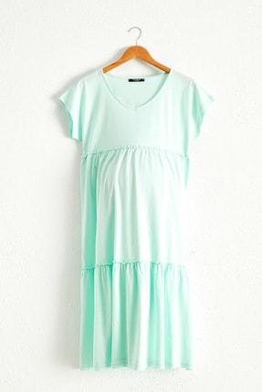 LC Waikiki Kadın  Nane Yeşil  Elbise 0Sbı92Z8