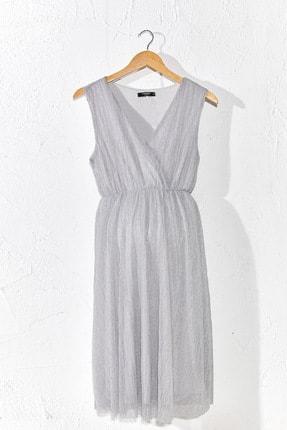 LC Waikiki Kadın  Gümüş   Elbise 0Sr027Z8
