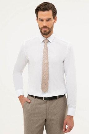 Pierre Cardin Erkek Beyaz Slim Fit Basic Gömlek