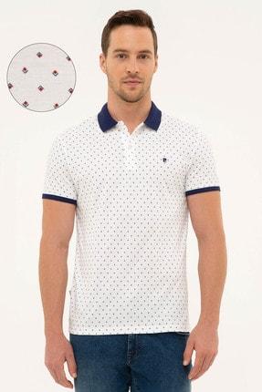 Pierre Cardin Erkek Beyaz Slim Fit Polo Yaka T-Shirt