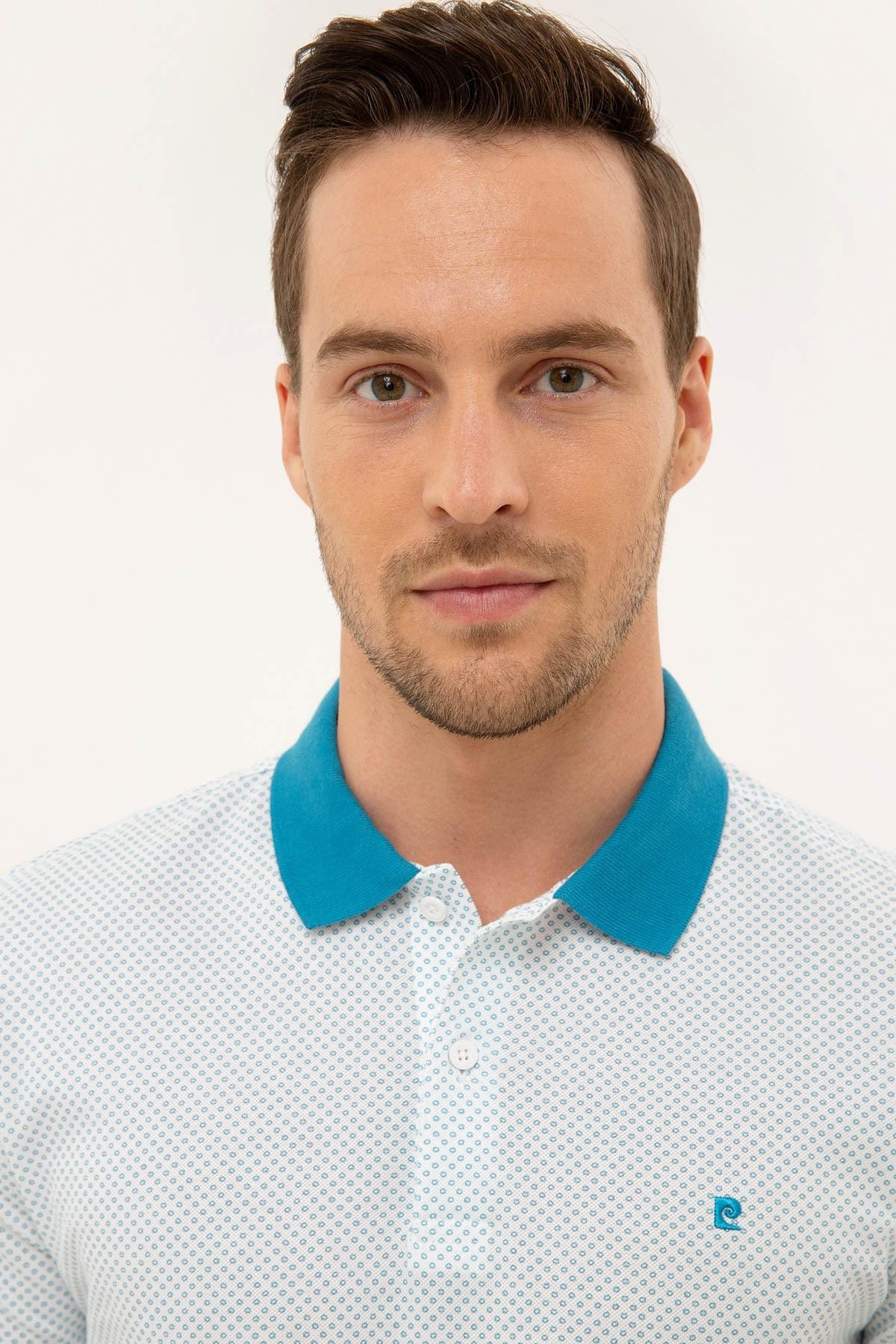 Pierre Cardin Erkek Mavi Slim Fit Polo Yaka T-Shirt 2