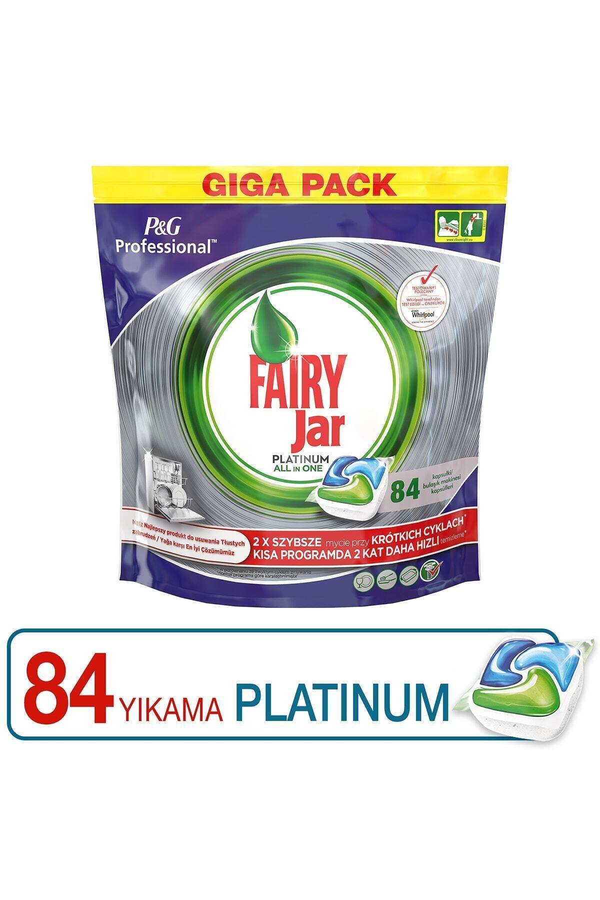 Fairy Professional 84 Yıkama Platinum Bulaşık Makinesi Deterjanı Kapsülü 2