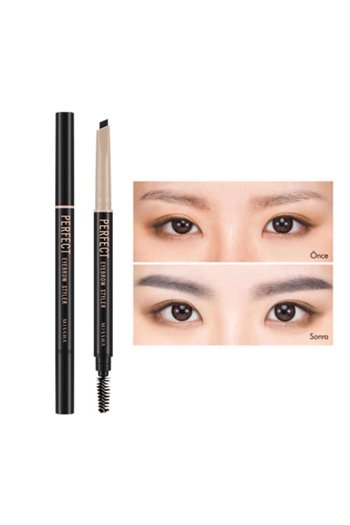 Missha Suya Dayanıklı Kaş Kalemi Perfect Eyebrow Styler (Black) 8806185749961 1