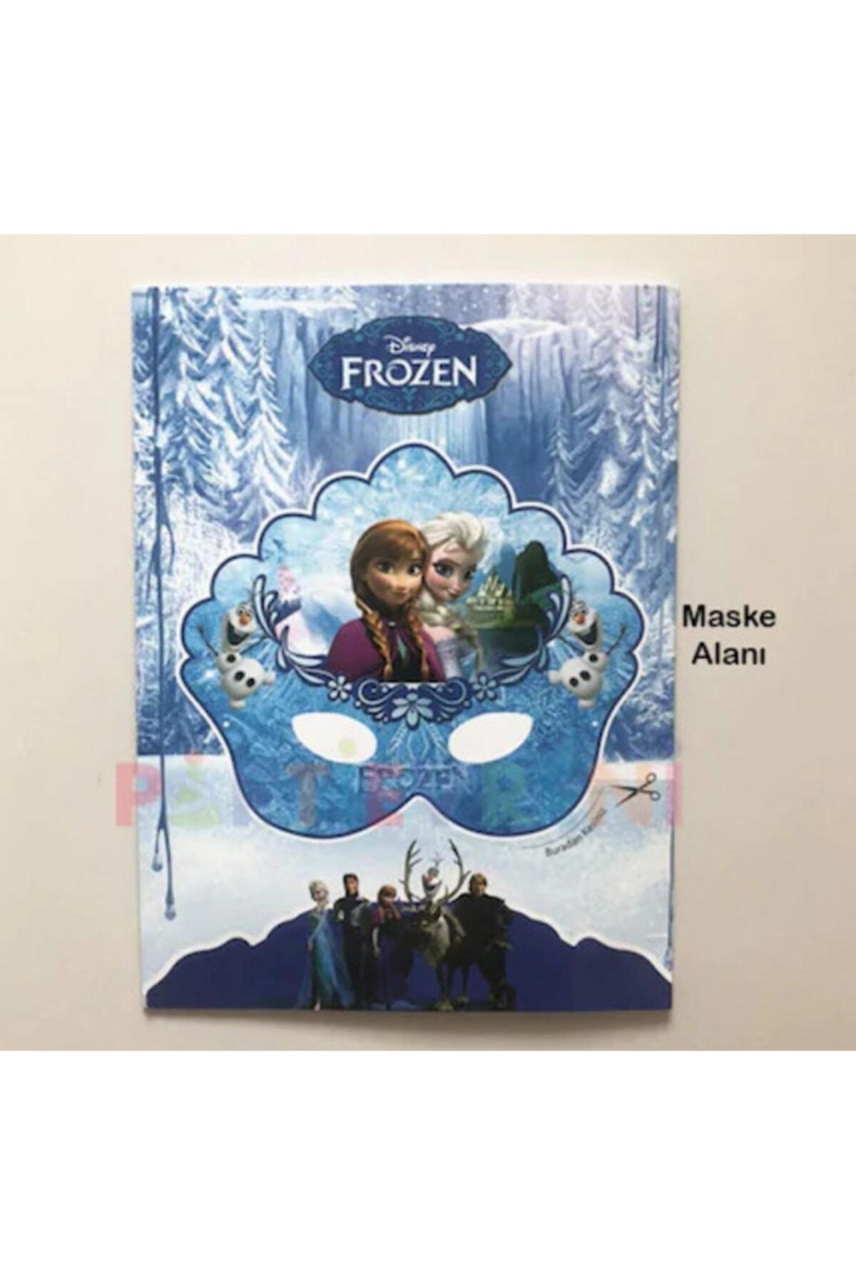 Elif Frozen Karlar Ülkesi Sticker ve Maskeli Boyama Kitabı 10 Adet 2