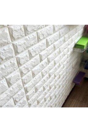 Renkli Duvarlar Kendinden Yapışkanlı Esnek Sünger Beyaz Tuğla Duvar Kağıdı Paneli