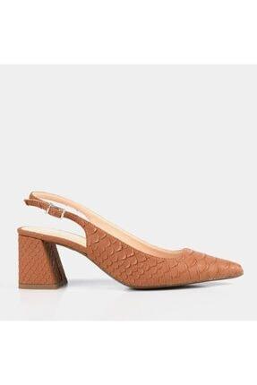 Hotiç Kadın Taba Hakiki Deri Stiletto
