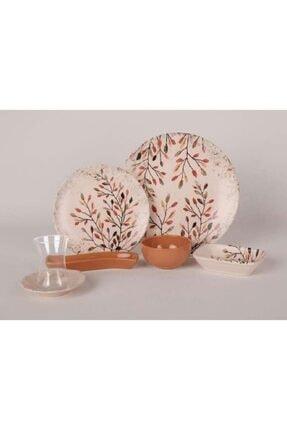 Keramika Pastel Bahar 19 Parça 4 Kişilik Lüks Kahvaltı Takımı