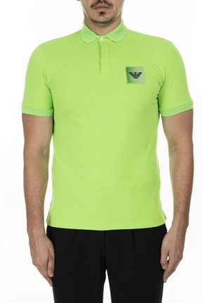 Emporio Armani Düğmeli Polo T Shirt Erkek Polo 3h1f85 1j80z 0563