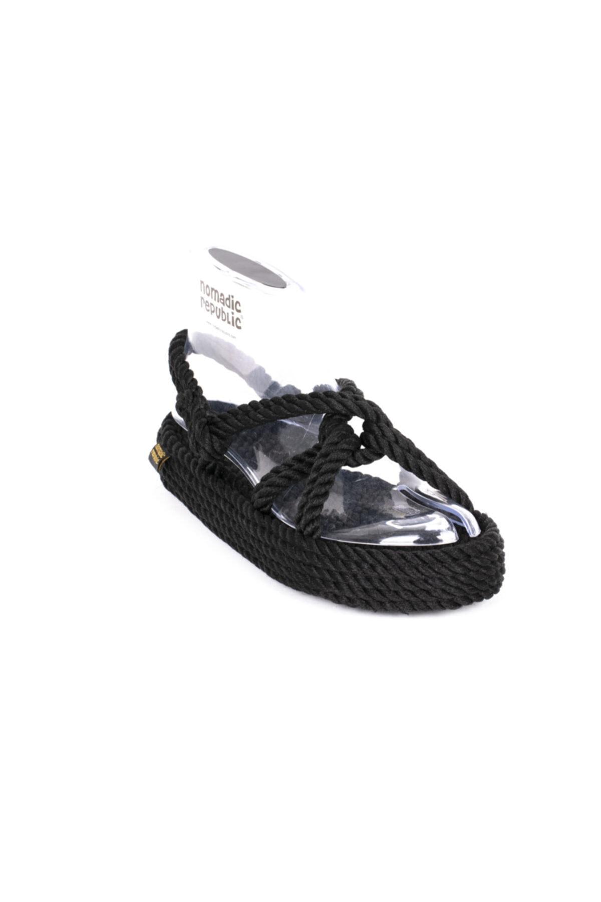 Nomadic Republic Bora Bora Platform Kadın Kalın Taban Ip Sandalet 1