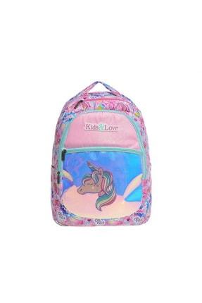 KAUKKO Kids & Love Unicorn Okul Çantası 40x25x17 Cm Aynalı (l5018)