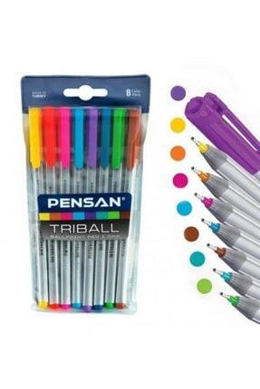 Ceren Kırtasiye Pensan 1003 Triball 8 Renk Tükenmez Kalem