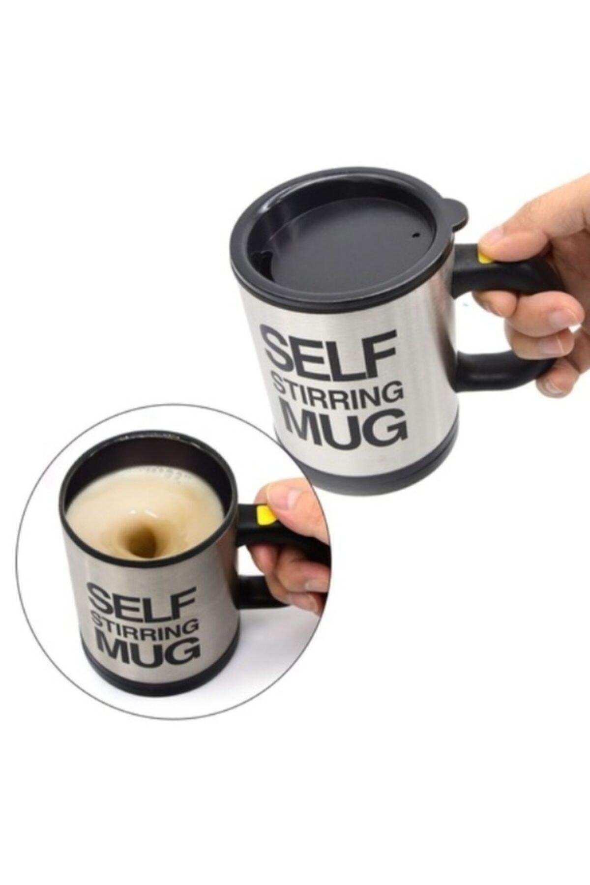 Eflatun Shops Kendi Kendini Karıştıran Self Stirring Mug Termos Kupa Bardak 1