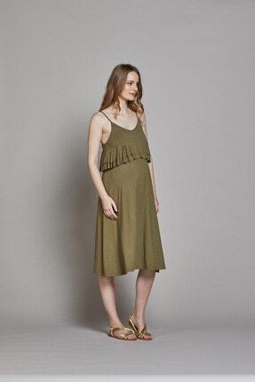 GEBE Askılı Hamile Elbisesi Linda