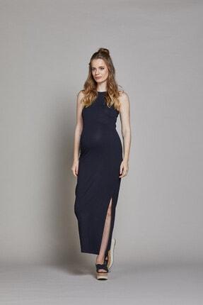 GEBE Yandan Yırtmaçlı Uzun Hamile Elbisesi Lucina