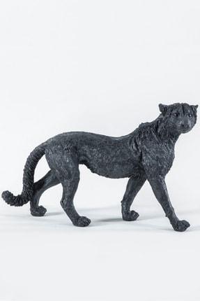 Eymense Siyah Çita Dekoratif Biblo