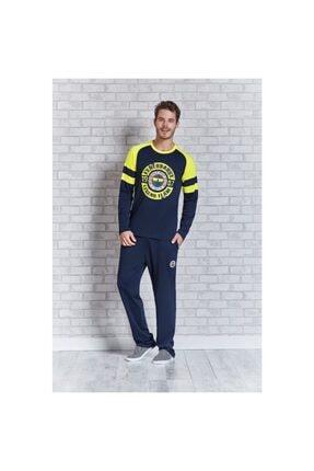 ROLY POLY 9411 Erkek Sarı Lacivert Fenerbahçe Pijama Takımı
