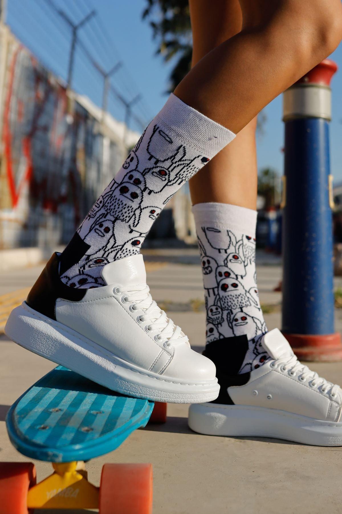 Chekich Kadın Beyaz / Siyah Ayakkabı  Ch256 Bt 1